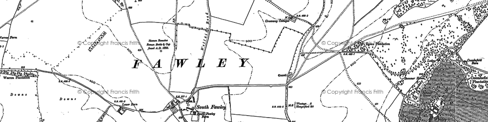 Old map of Woolley Ho in 1898