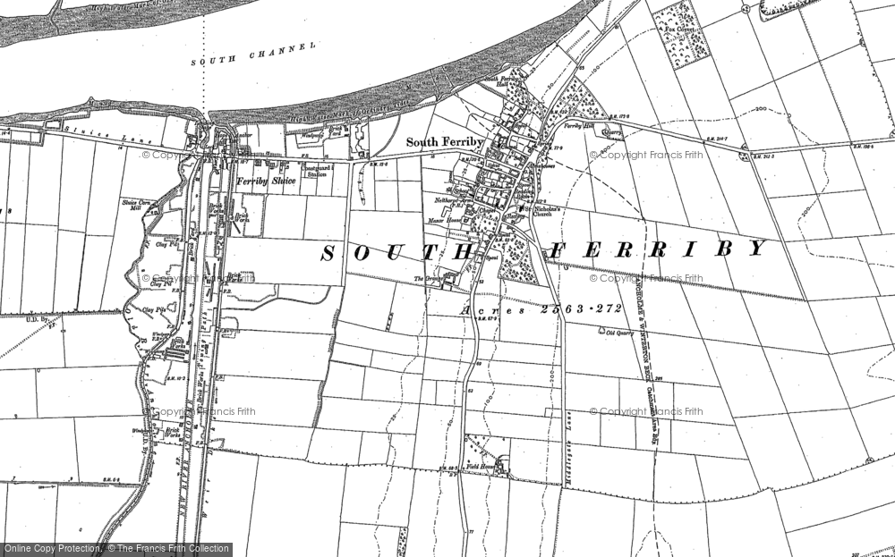 Old Map of South Ferriby, 1886 in 1886