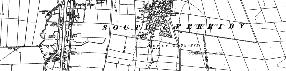 Old map of Winterton Carrs in 1886