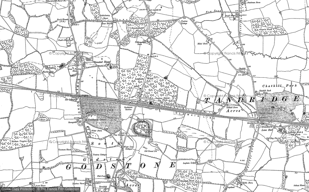 Old Map of South Godstone, 1895 in 1895