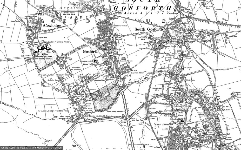 old maps of south gosforth francis frith