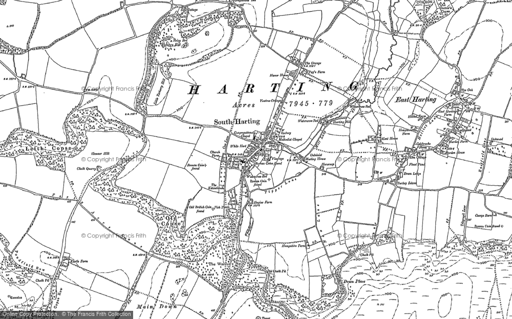 Old Map of South Harting, 1910 in 1910