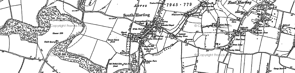 Old map of South Harting in 1910