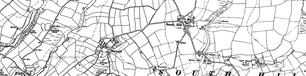 Old map of South Hill in 1882