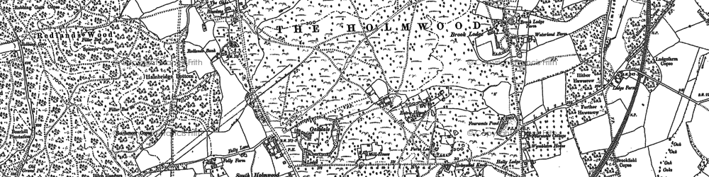 Old map of South Holmwood in 1895