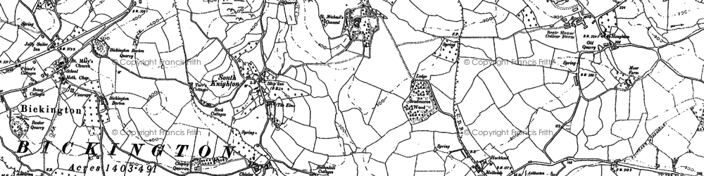 Old map of Wrigwell in 1887