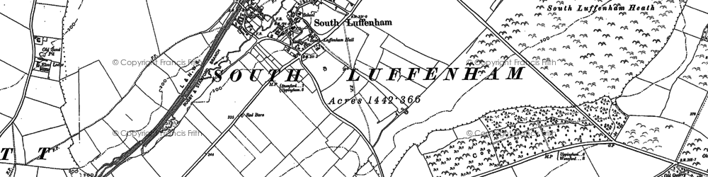 Old map of South Luffenham in 1884