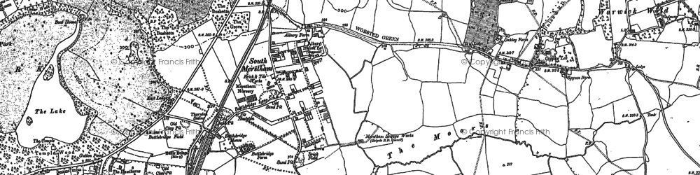 Old map of South Merstham in 1895