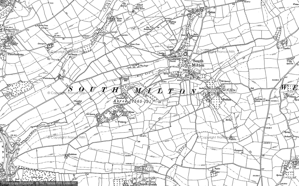 Old Map of South Milton, 1904 - 1905 in 1904