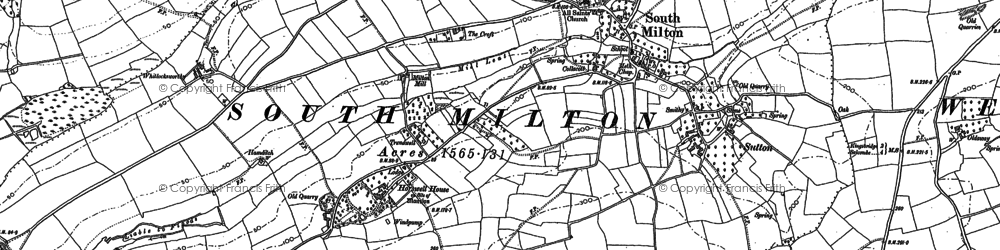Old map of Whitlocksworthy in 1904