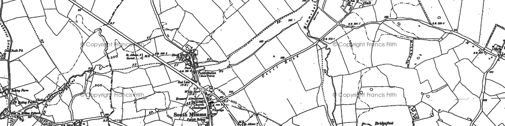 Old map of South Mimms in 1895