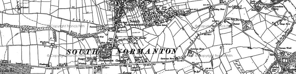 Old map of South Normanton in 1879