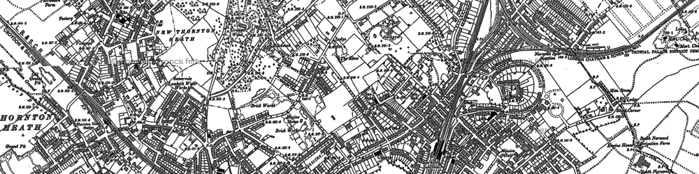 Old map of South Norwood in 1894