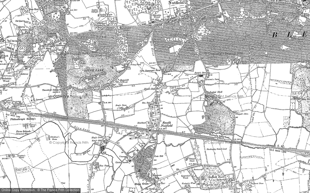 Map of South Nutfield, 1895