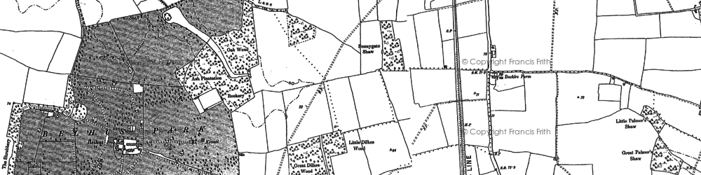 Old map of South Ockendon in 1895