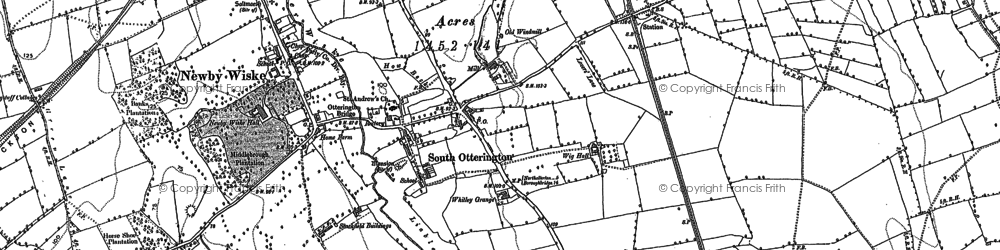Old map of Whitley Grange in 1891