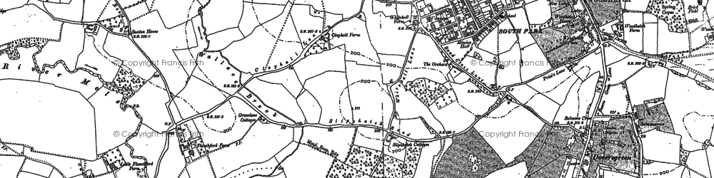 Old map of Woodhatch in 1895
