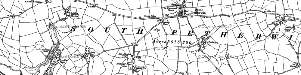 Old map of South Petherwin in 1882