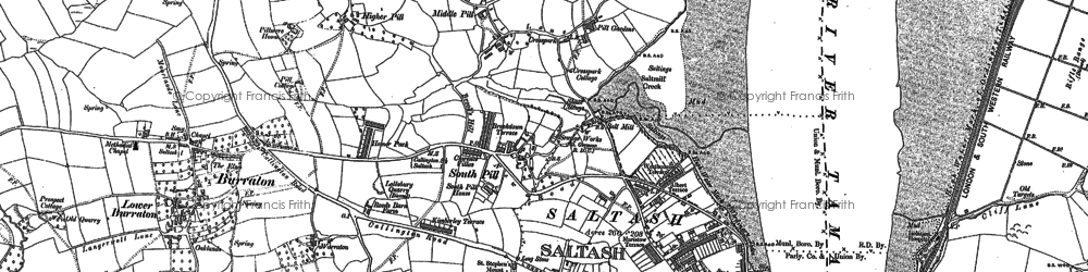 Old map of South Pill in 1865