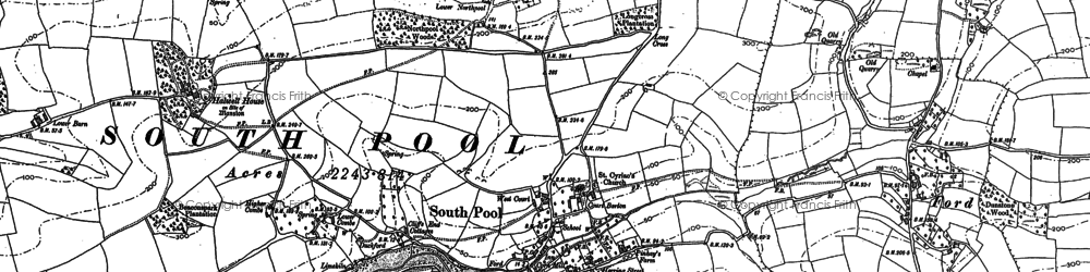 Old map of Wilton in 1905