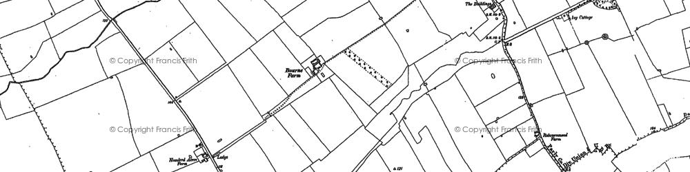 Old map of Ruislip Manor in 1894