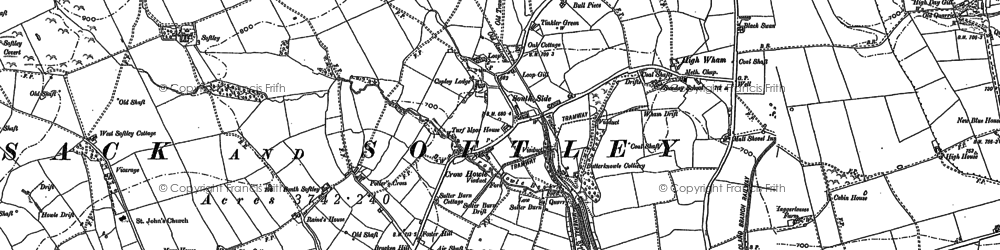 Old map of Potter's Cross in 1896