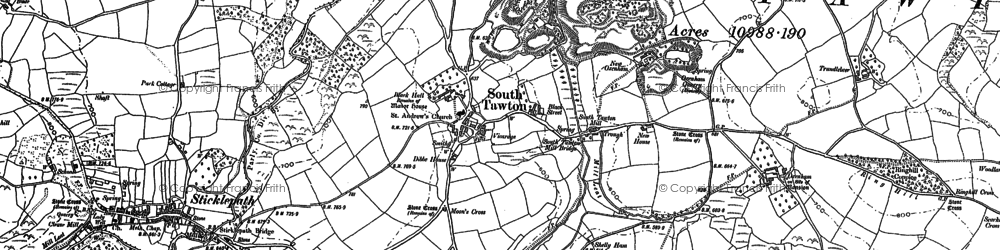 Old map of Addiscott in 1884
