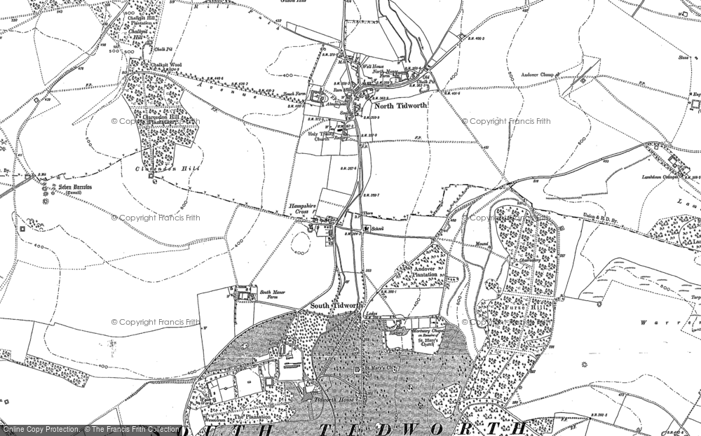 Old Map of Historic Map covering Ashdown Copse in 1899