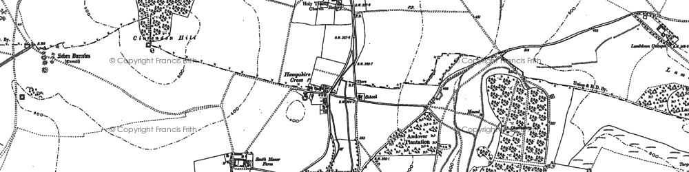 Old map of Tidworth Ho in 1899
