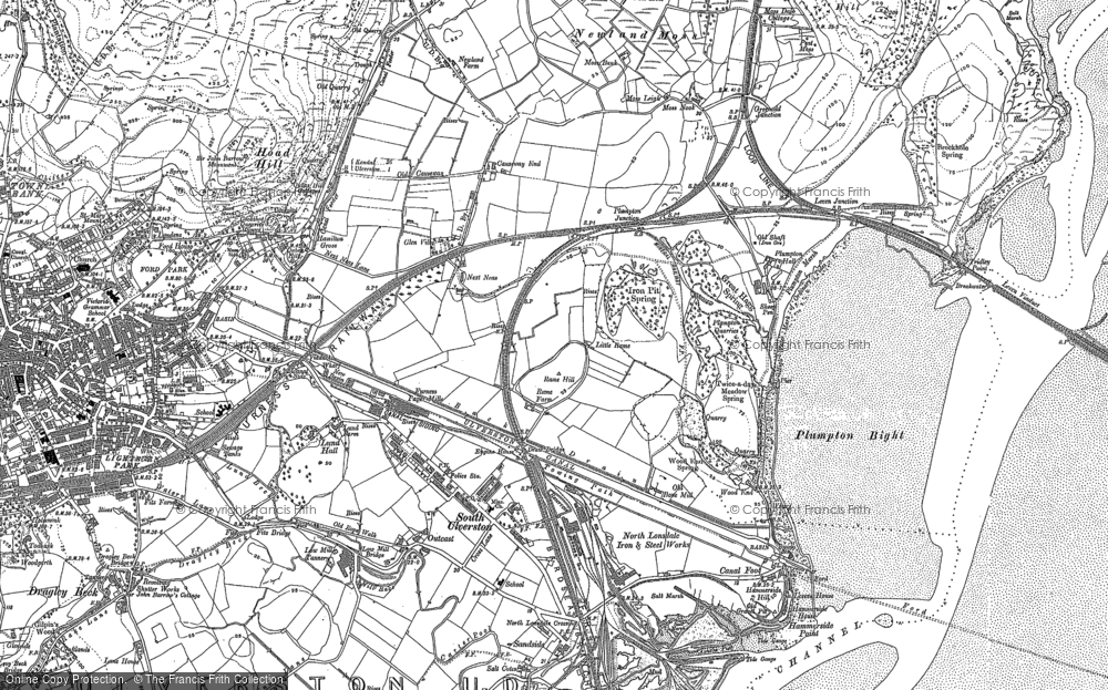 Old Map of South Ulverston, 1911 in 1911