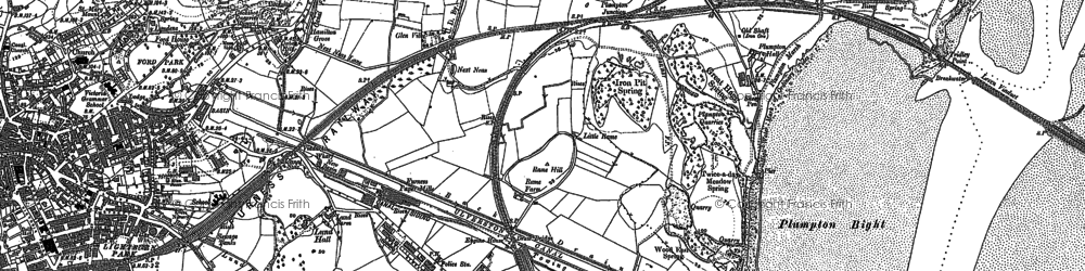 Old map of Sandhall in 1911