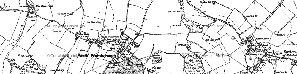 Old map of South Warnborough in 1894