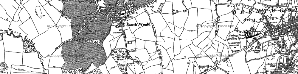 Old map of Langtons in 1895