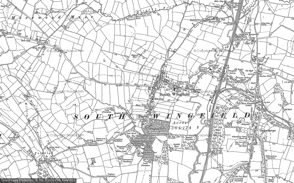 Old Map of South Wingfield, 1879 in 1879