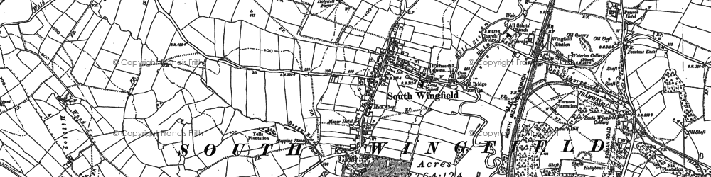 Old map of South Wingfield in 1879
