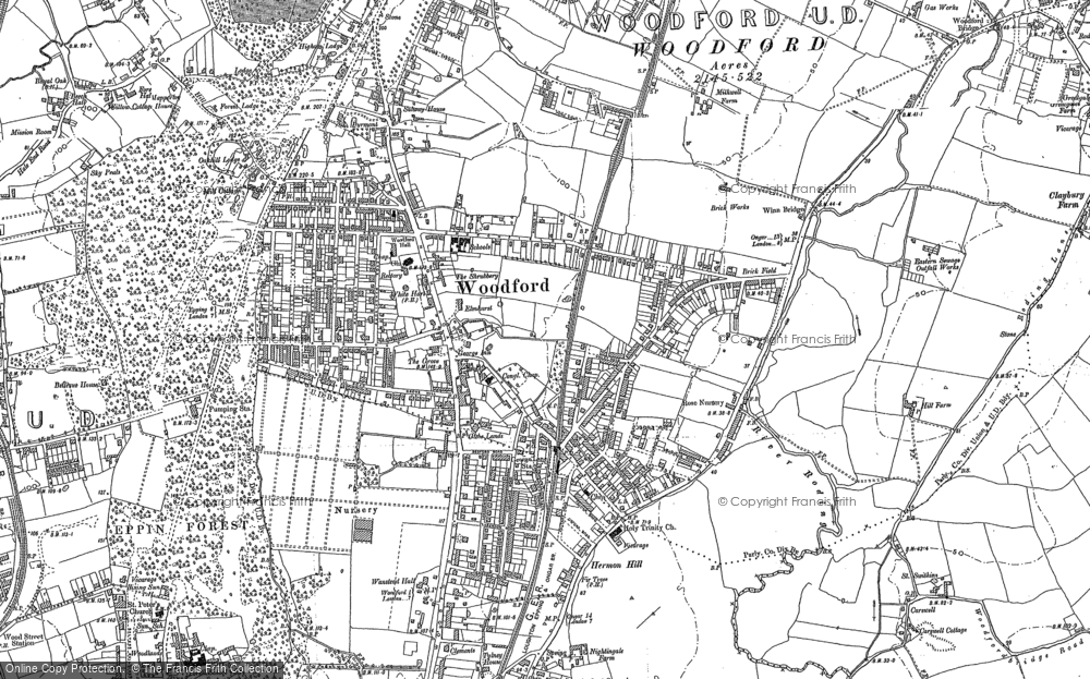 Map of South Woodford, 1894 - 1895