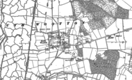 Old Map of South Wootton, 1884