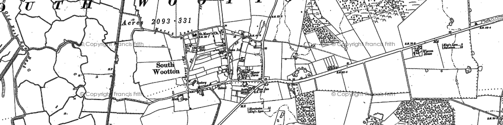 Old map of Ling Common in 1884