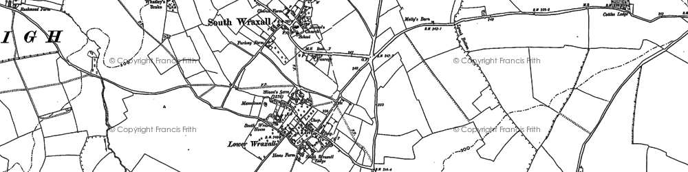 Old map of South Wraxall in 1922