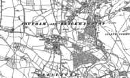 Old Map of Southam, 1883 - 1885