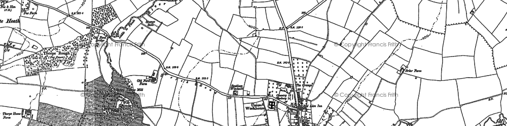 Old map of Southam in 1885