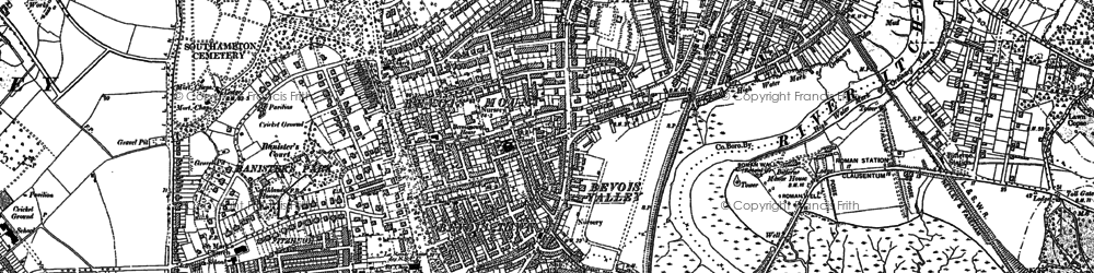 Old map of Southampton in 1895