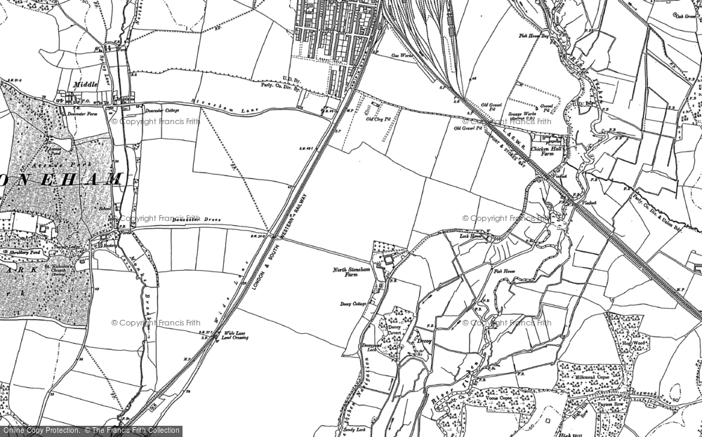 Old Map of Historic Map covering Woodmill in 1895