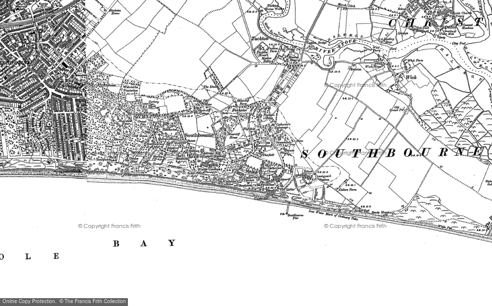 Old Map of Southbourne, 1907 in 1907