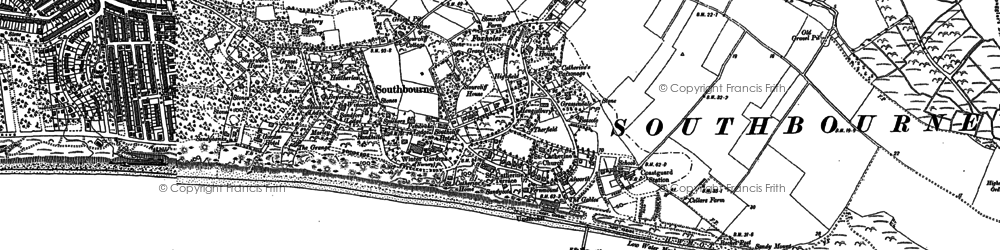 Old map of West Southbourne in 1907