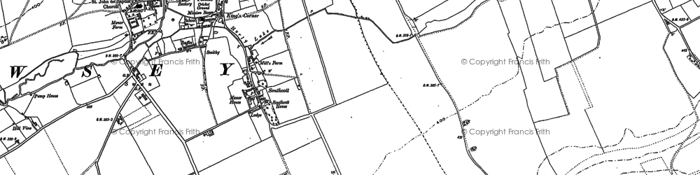 Old map of Winter's Penning in 1899