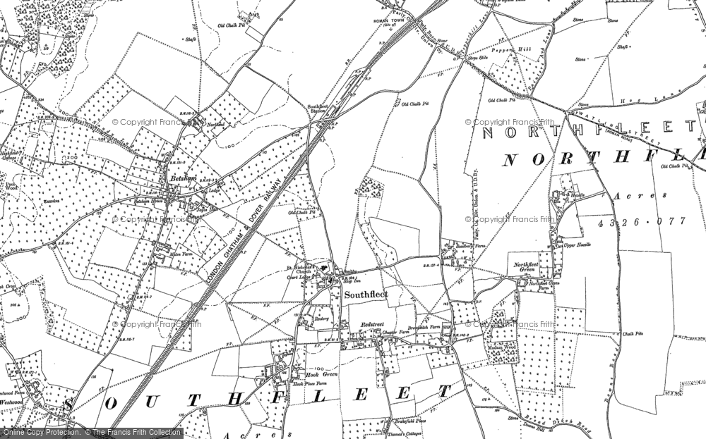 Old Map of Historic Map covering Vagniacis in 1895