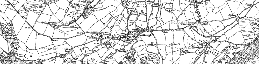 Old map of Wiscombe Park in 1903