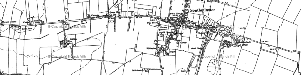 Old map of Southminster in 1895