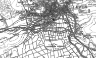 Old Map of Southover, 1898